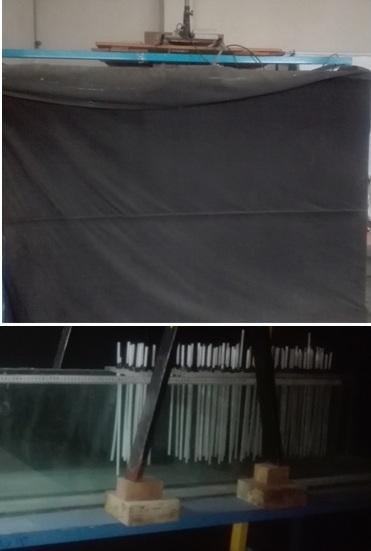 کانال و فلوم جریان تبادلی به ابعاد 3/0×12/0×5/1 متر و ابعاد اتاق 2×2×3 متر