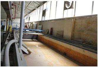 کانال جریان با مصالح بنایی به ابعاد 4/0×5/1× 15 متر