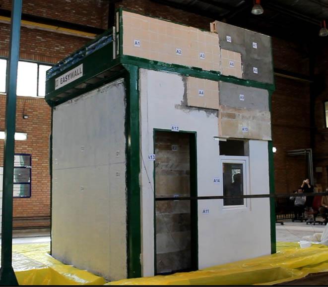 ارزیابی تجربی رفتار سیستم های خاص اجرای دیوار در ساختمان